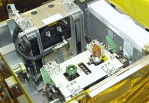 The ACS Repair hardware in flight configuration, stowed in the LOPE